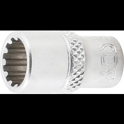 """Socket, Gear Lock, deep  6,3 mm (1/4"""") Drive  9 mm"""