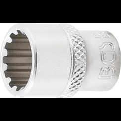 """Socket, Gear Lock, deep  6,3 mm (1/4"""") Drive  12 mm"""