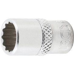 "Socket, 12-point  6.3 mm (1/4"") Drive  3/8"""