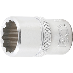 "Socket, 12-point  6.3 mm (1/4"") Drive  7/16"""