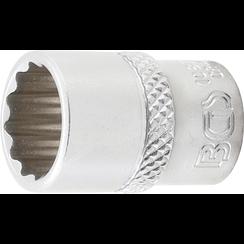 "Socket, 12-point  6.3 mm (1/4"") Drive  15/32"""