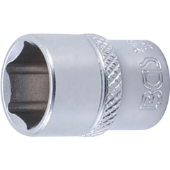 "Socket, Hexagon  6.3 mm (1/4"") Drive  13 mm"