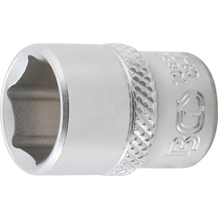 "Socket, Hexagon  6.3 mm (1/4"") Drive  1/2"""