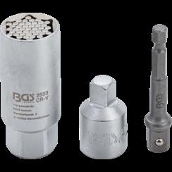 "Multi-dopsleutel et adapter-set  10 mm (3/8"")  9 - 21 mm  3-dlg"