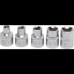Driekant-inzetstukset  M5 - M12 (8 - 16,5 mm)  5-dlg.