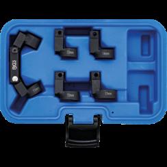 """Buis-leidingsleutelset  flexibel  5 wisselkoppen  10 mm (3/8"""")  11 - 17 mm"""