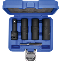 "Special Impact Double-Sided Socket Set / External Hexagon & Screw Extractors 17 - 19 - 21 mm  12.5 mm (1/2"")  3-tlg."