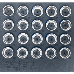 Tool Tray 1/6: Rim Lock Socket Set for BMW  20 pcs.