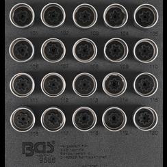 Tool Tray 1/6: Rim Lock Socket Set for Opel / Vauxhall (Version A)  20 pcs.