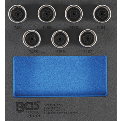 Tool Tray 1/6: Rim Lock Socket Set for Opel / Vauxhall (Version D)  7 pcs.