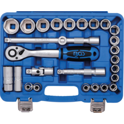 "Socket Set  12.5 mm (1/2"") Drive  8 - 32 mm  27 pcs."