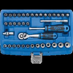 """Socket Set, Gear Lock  6.3 mm (1/4"""") Drive  39 pcs."""