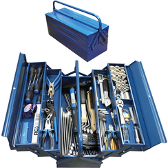 Metalen gereedschapskoffer inclusief gereedschappenassortiment  137-dlg.