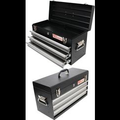 Metalen gereedschapkoffer, leeg  3 schuifladen