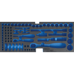 Foam Tray for BGS 3312, empty: for Socket Set