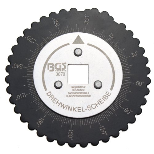 "BGS  Technic Angular Gauge for angular torque  12.5 mm (1/2"") Drive"