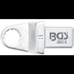 Insteek-ringsleutel  8 mm  opname 9 x 12 mm