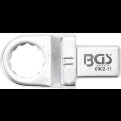 Insteek-ringsleutel  11 mm  opname 9 x 12 mm