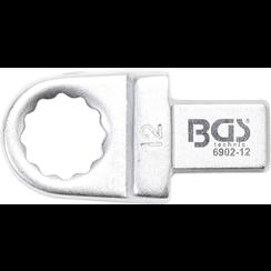 Insteek-ringsleutel  12 mm  opname 9 x 12 mm