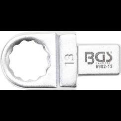 Insteek-ringsleutel  13 mm  opname 9 x 12 mm