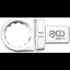 Insteek-ringsleutel  14 mm  opname 9 x 12 mm