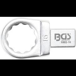 Insteek-ringsleutel  16 mm  opname 9 x 12 mm