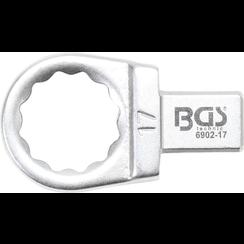 Insteek-ringsleutel  17 mm  opname 9 x 12 mm