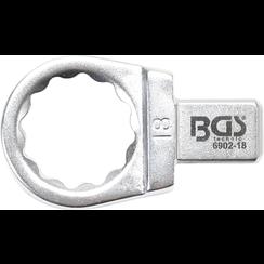 Insteek-ringsleutel  18 mm  opname 9 x 12 mm