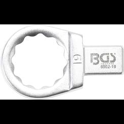Insteek-ringsleutel  19 mm  opname 9 x 12 mm