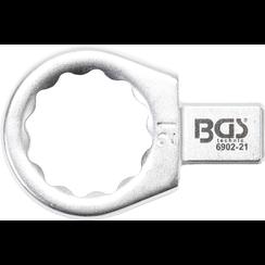 Insteek-ringsleutel  21 mm  opname 9 x 12 mm