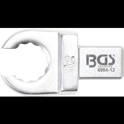 Insteek-ringsleutel  open  12mm  opname 9 x 12 mm