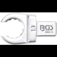 Insteek-ringsleutel  open  13 mm  opname 9 x 12 mm