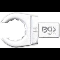 Insteek-ringsleutel  open  14 mm  opname 9 x 12 mm