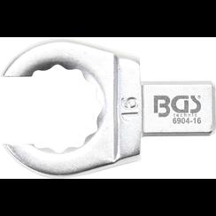 Insteek-ringsleutel  open  15 mm  opname 9 x 12 mm