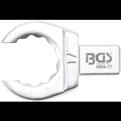Insteek-ringsleutel  open  16 mm  opname 9 x 12 mm