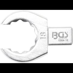 Insteek-ringsleutel  open  17 mm  opname 9 x 12 mm
