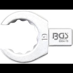 Insteek-ringsleutel  open  18 mm  opname 9 x 12 mm
