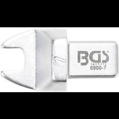 Insteek-steeksleutel  7 mm  opname 9 x 12 mm