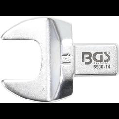 Insteek-steeksleutel  14 mm  opname 9 x 12 mm
