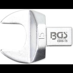 Insteek-steeksleutel  15 mm  opname 9 x 12 mm