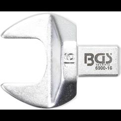 Insteek-steeksleutel  16 mm  opname 9 x 12 mm