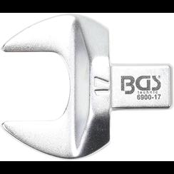 Insteek-steeksleutel  17 mm  opname 9 x 12 mm