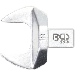 Insteek-steeksleutel  18 mm  opname 9 x 12 mm
