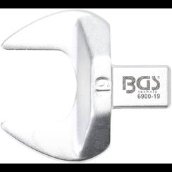 Insteek-steeksleutel  19 mm  opname 9 x 12 mm