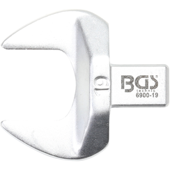 Open-End Push Fit Spanner  19 mm  Square Size 9 x 12 mm