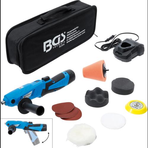 BGS  Technic Accu-mini-polijstmachineset  max. 3000 omw/min  10,8 V  2,0 Ah
