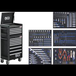 Gereedschapwagen Profi Standaard Maxi  12 laden  met 263 gereedschappen