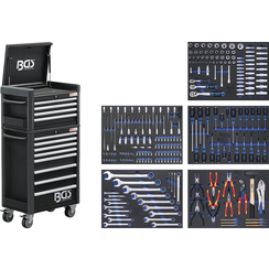 Workshop Trolley Pro Standard Max  12 Drawers  with 263 Tools