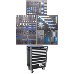 Gereedschapwagen Profi Standard  8 laden  met 234 gereedschappen