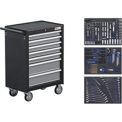 Workshop Trolley  7 Drawers  with 263 Tools